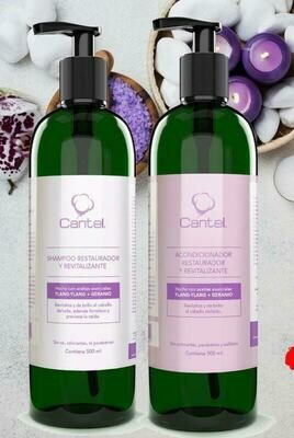 Shampoo O Acondicionador Restaurador Y Revitalizante Con Aceites Esenciales Y lang Y lang & Geranio, Cantel 500 Ml
