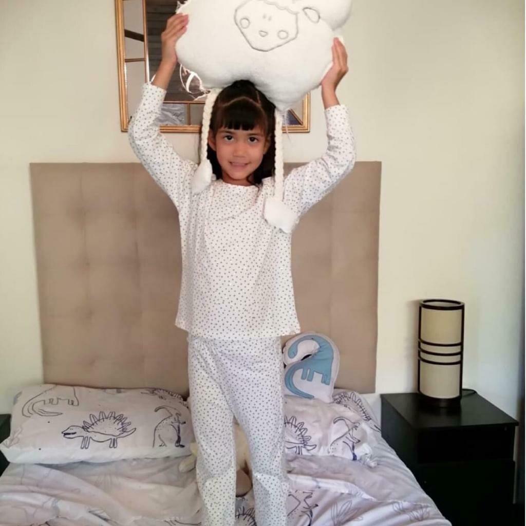Pijama Cantel Sleep Niñas Pantalón Y Camiseta Ml Algodón Natural Estrellas Foil2020