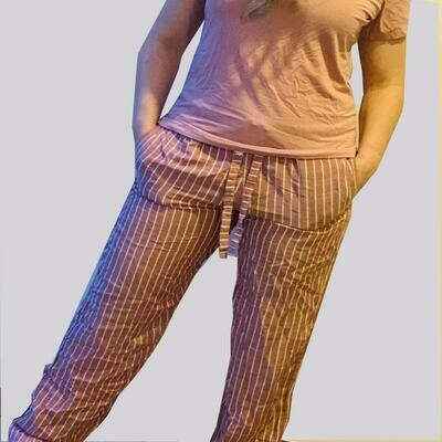 Pantalón Pijama Cantel Sleep Dama Flama Basic Rojo Fresa Otoño 2020