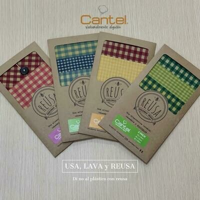 Lunchpack2 escolar beeswax wraps