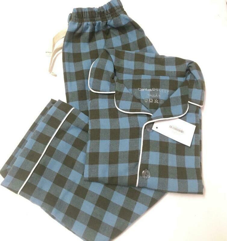 Pijama Completa Cantel Sleep Niños Azul/Gris