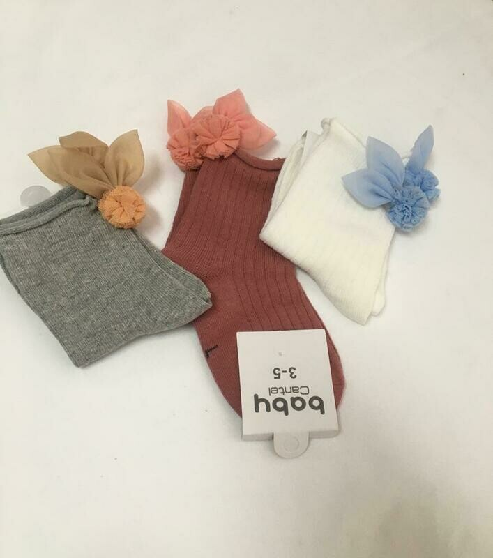 Set De 3 Pares De Calcetas Baby Cantel Para Niñas