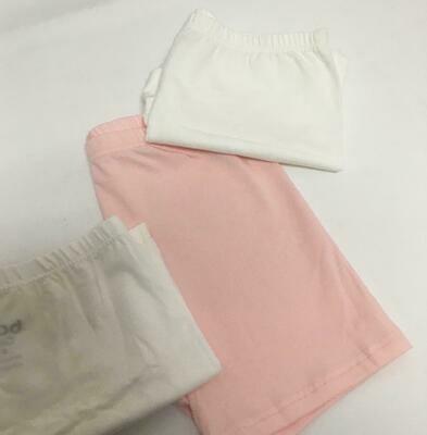 Set de 3 pantalonetas de algodón para niña