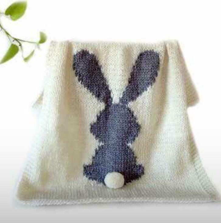 Cobertor De Algodón Para Niños Simulación Conejo