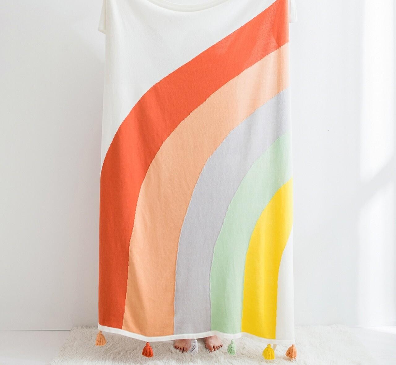 Cobertor De Algodón Con Borlas