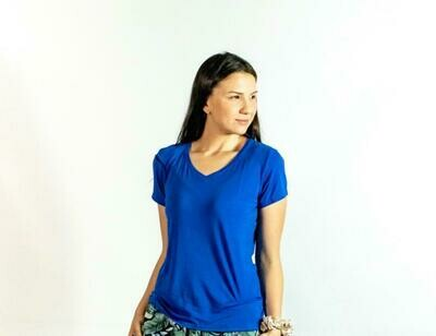 Blusa Mc Pijama Cantel Sleep Base Sabelas Dama Verano 2021 Color Azul