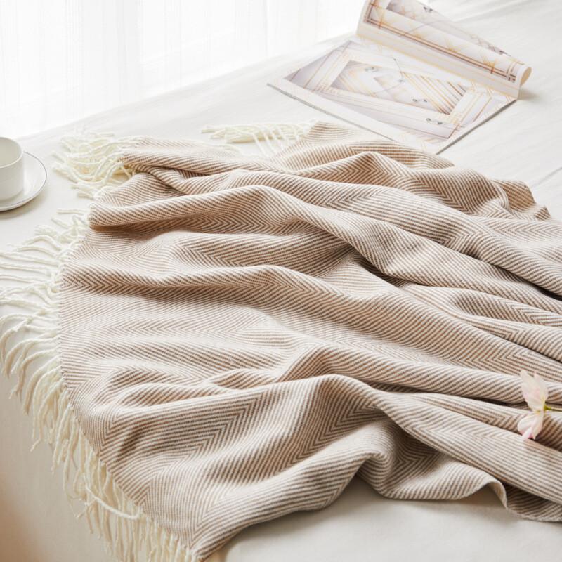 Cobertor Con Flecos 130X170 Cm 500 Gr