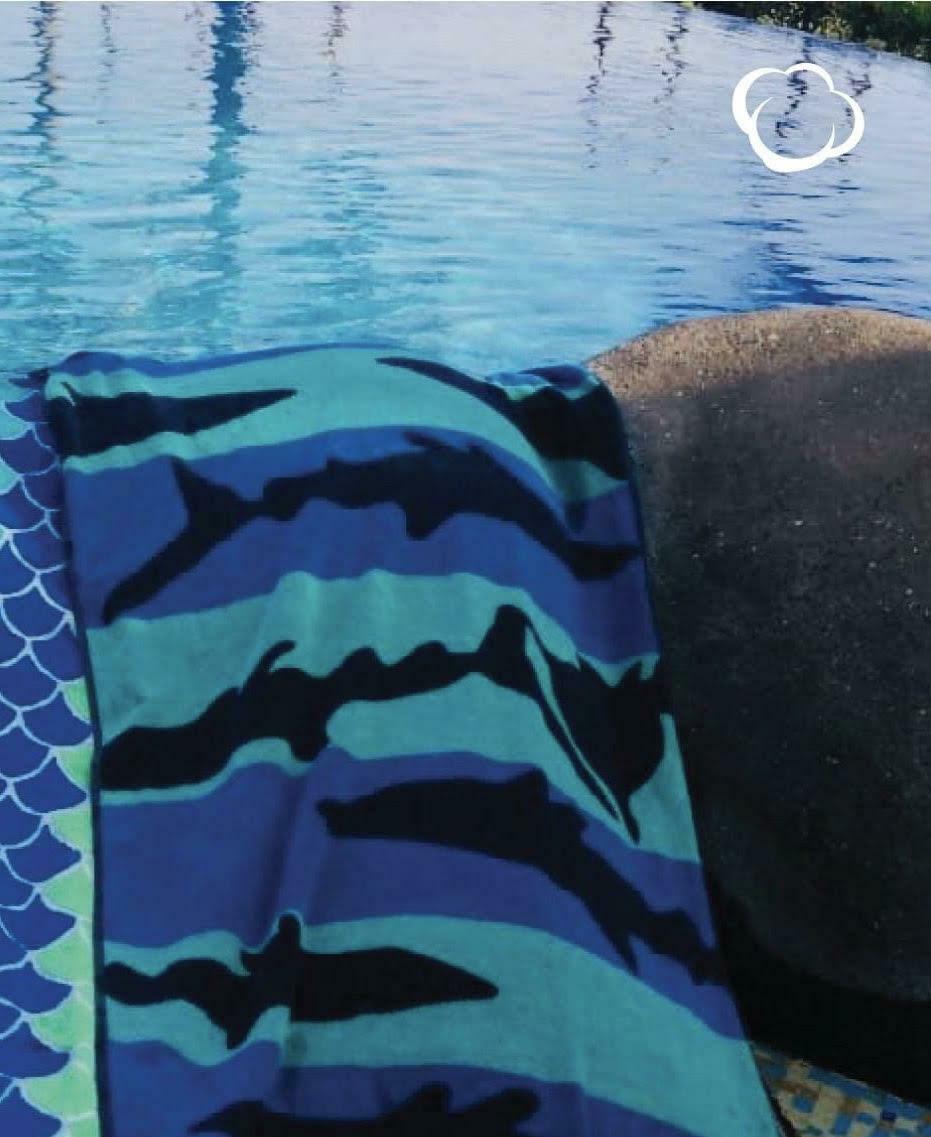 Toallas Tiburon Playa Azul Marino Verano 2021
