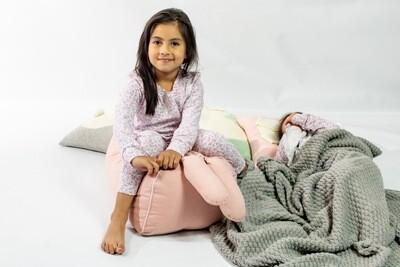 Pijama Cantel Sleep Niñas Pantalón Y Camiseta Ml Floral Rosa Verano 2021