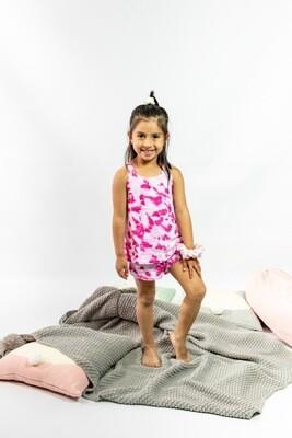 Pijama Cantel Sleep Niñas Short Y Camiseta S/M Garo Dyie Verano 2021