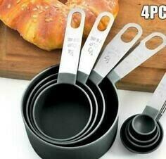 Medidor De Plástico 4 Pzas Para Recetas De Cocina