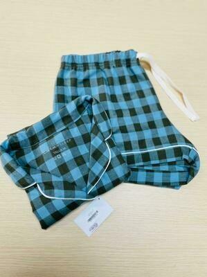 Pijama Completa Cantel Sleep Short y MC Dama Azul/Gris