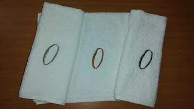 Toalla Triple Sin Flecos Bordado Letra O