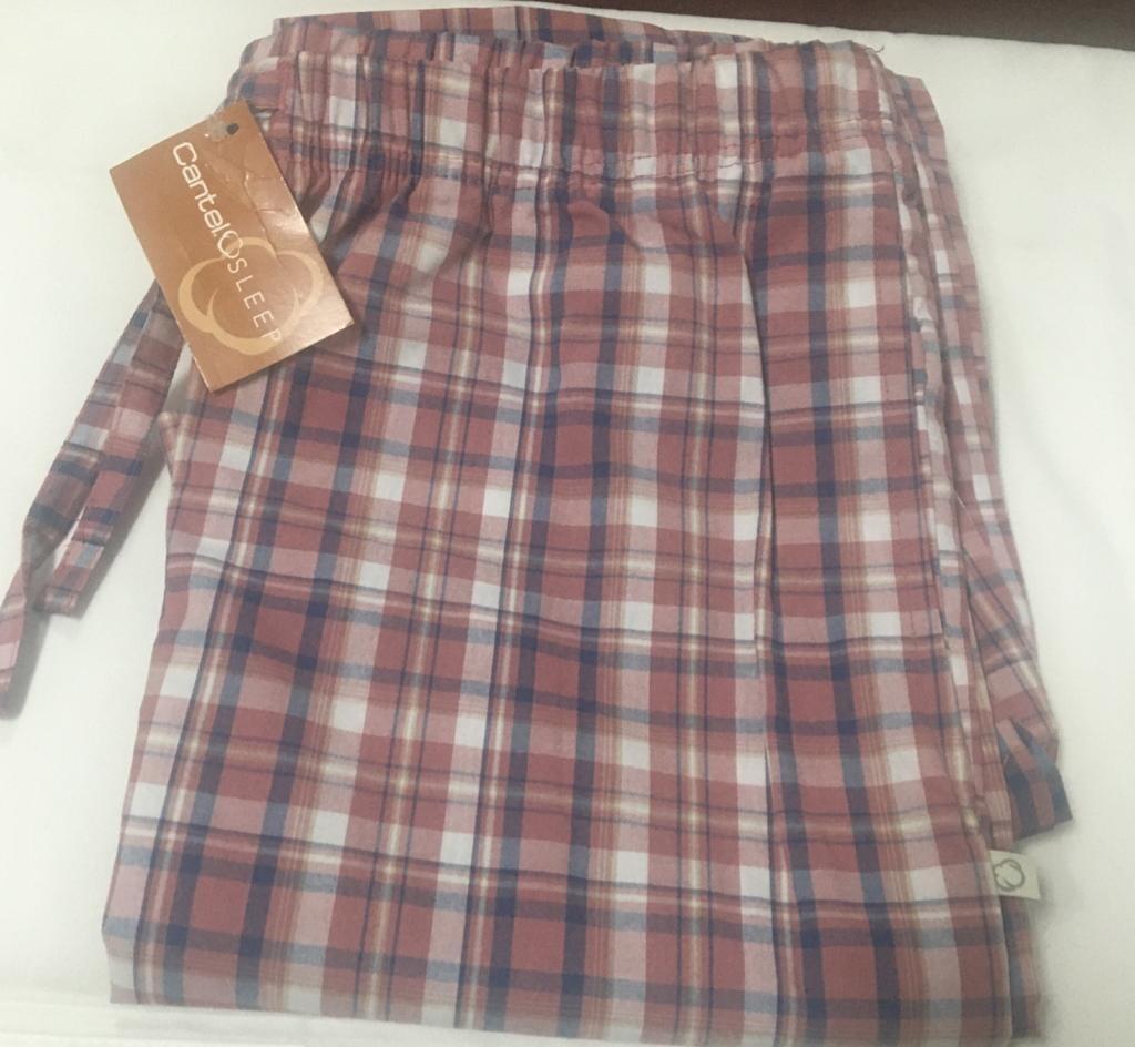 Pantalón Pijama Cantel Sleep Caballero Cuadros Rojo/Gris/Blanco Otoño 2021