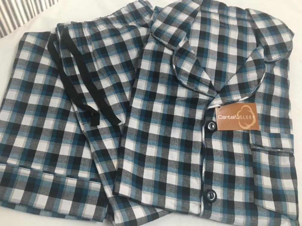 Pijama Cantel Sleep Pantalón/Camisa Caballero Franela 100% Algodón