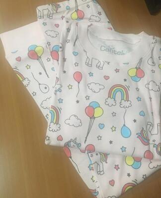 Pijama De Algodón Para Niña Pink Rainbow
