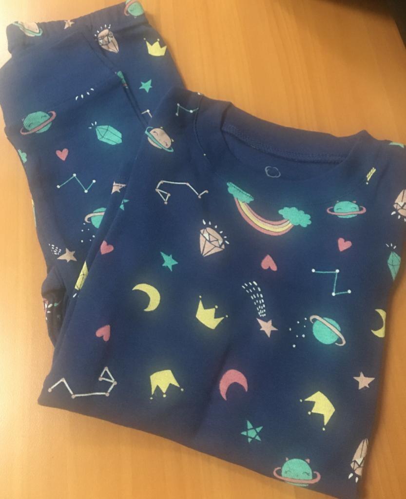 Pijama De Algodón Para Niña Night Rainbow