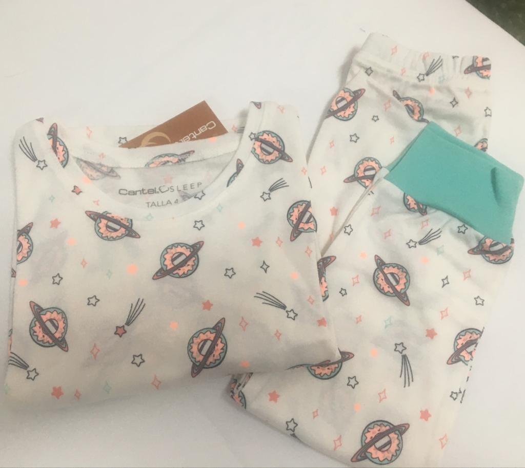 Pijama Cantel Sleep Niñas Pantalón Y Camiseta Ml Viri Star