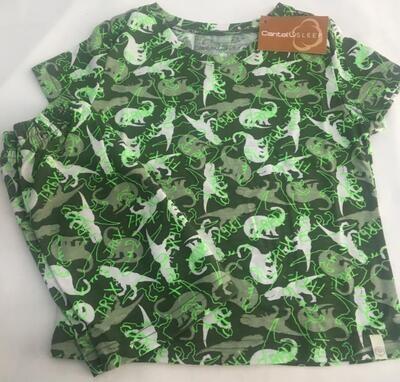 Pijama Cantel Sleep Niños Short Y Camiseta Mc Dinos1