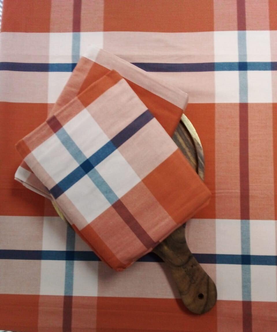 Mantel Rectangular Otoño  Café