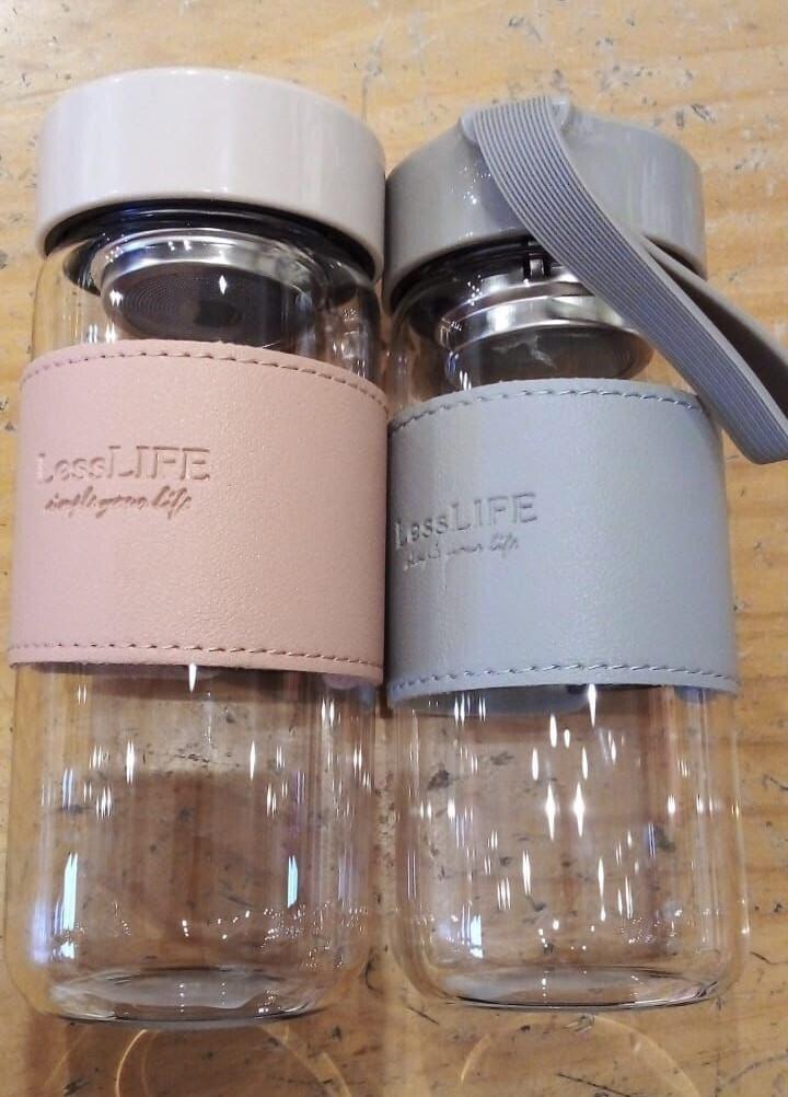 Envase Para Liquidos Vidrio Y Silicona 480 ml