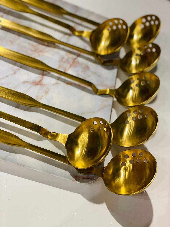 Cuchara Sopera De Acero Inoxidable Oro
