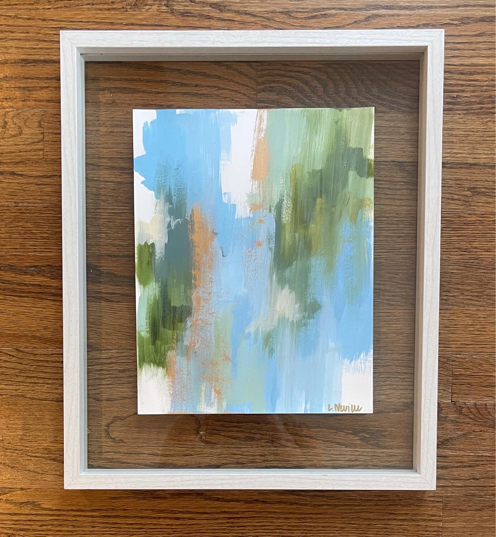 Blue Green Mix (framed)