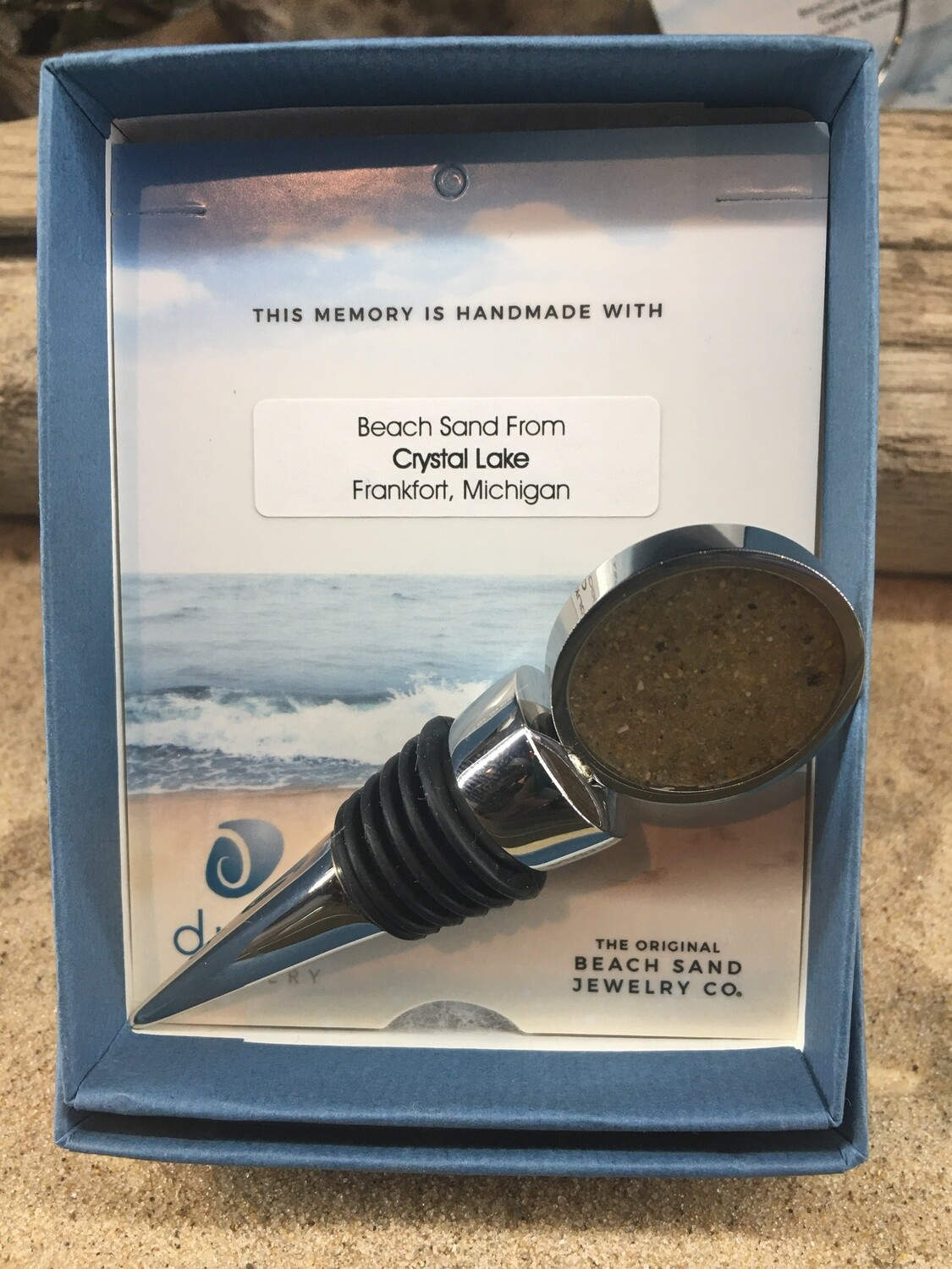 Dune Jewelry Wine Stopper Solid