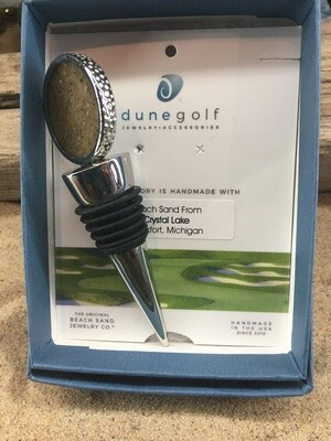 Dune Jewelry Golf Ball Wine Stopper