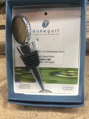 Dune Jewelry Golf Ball Wine Stopper