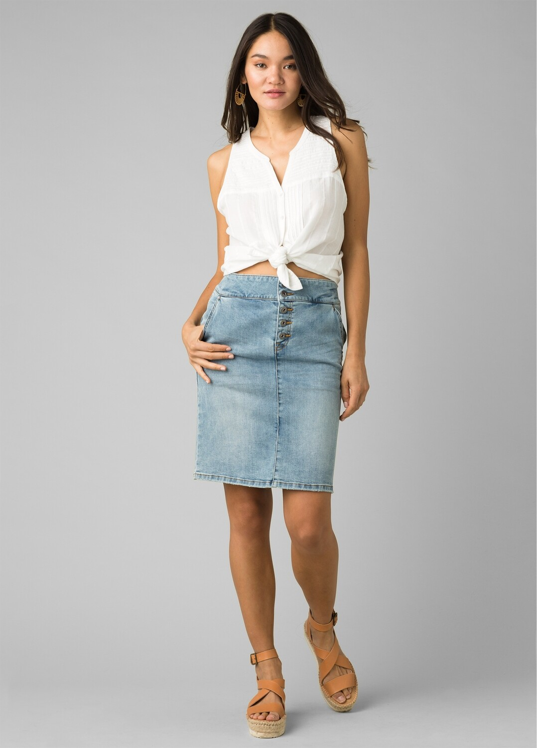 PRANA Denim Skirt