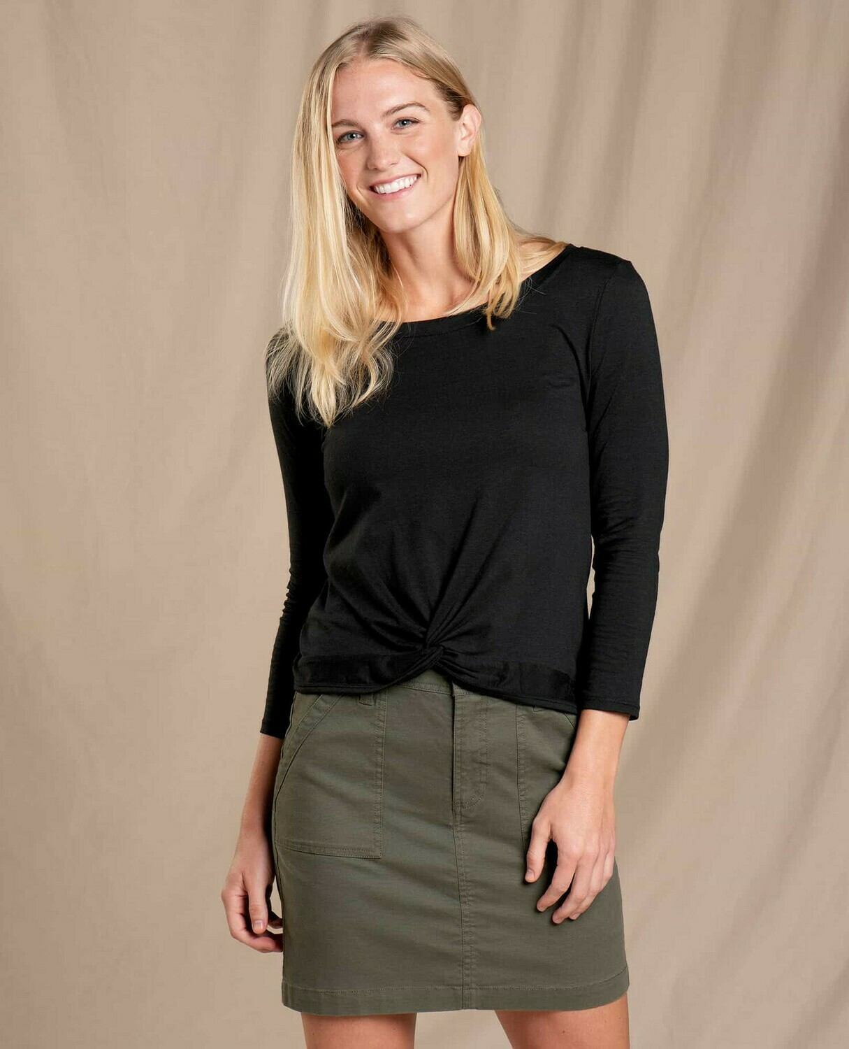 Toad and Co. Maisey 3/4 Sleeve Twist Top