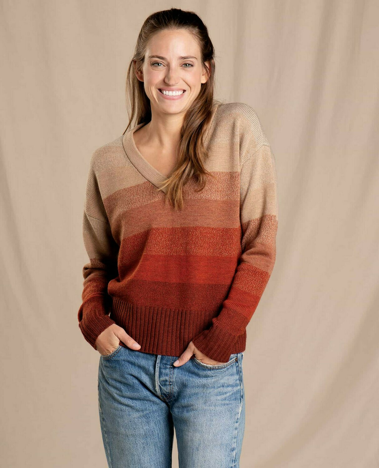 Toad and Co. Deerweed Vneck Sweater