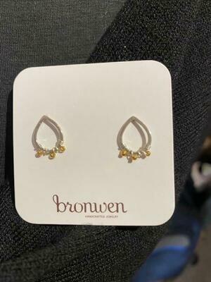 Bronwen MixedMetal Ronja Post Earrings