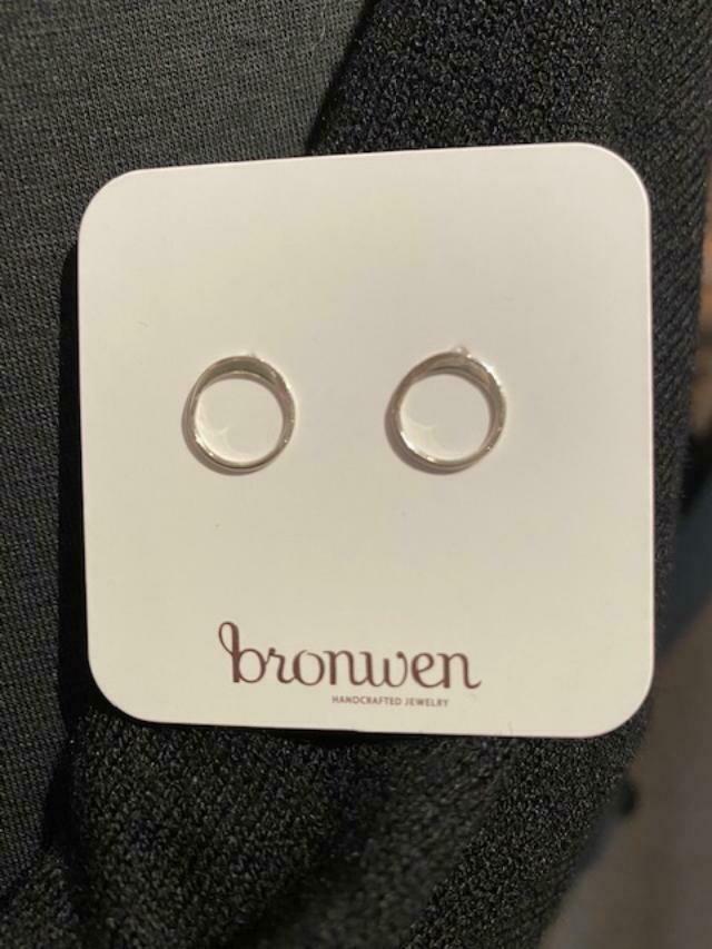 Bronwen Tiny Charm Post Circle of Life Silver