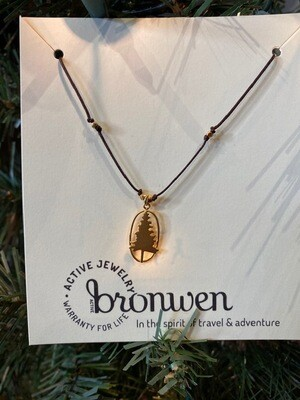 Bronwen Lone Pine Necklace Gold