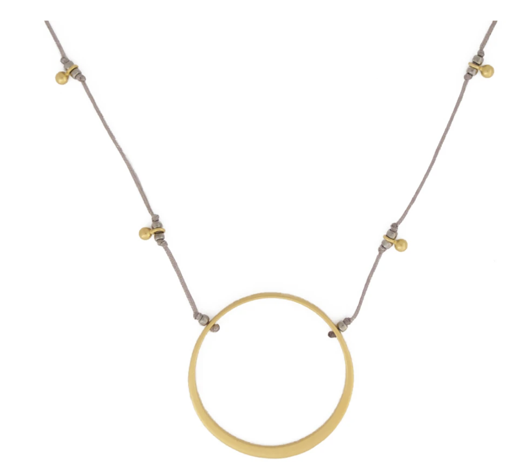 Bronwen Circle of Life Necklace Gold
