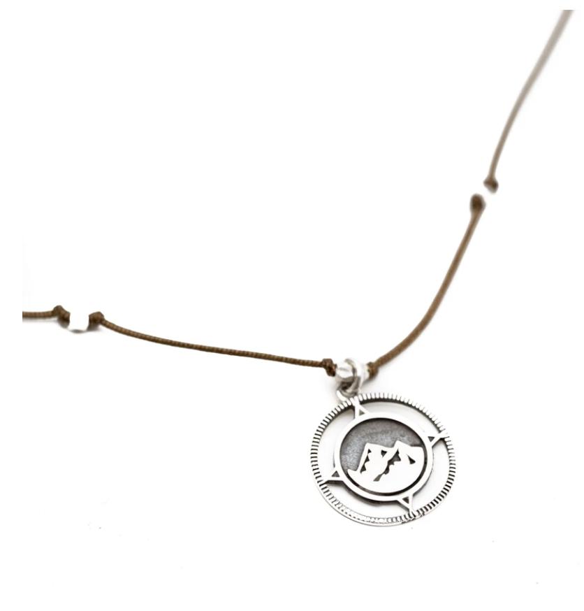 Bronwen Wanderlust Necklace w/Charcoal Cord