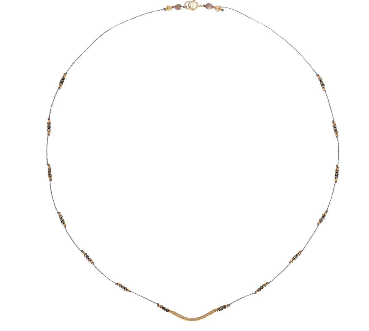Bronwen Crescendo Necklace Pyrite