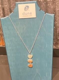 Dune Triple Drop Long Necklace/Gradient