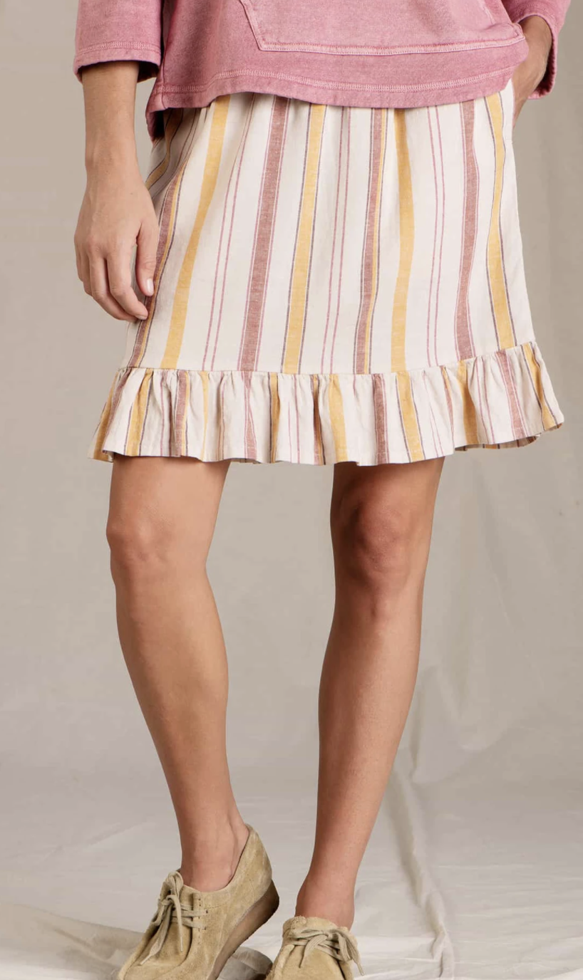 Toad & Co. Taj Hemp Ruffle Skirt
