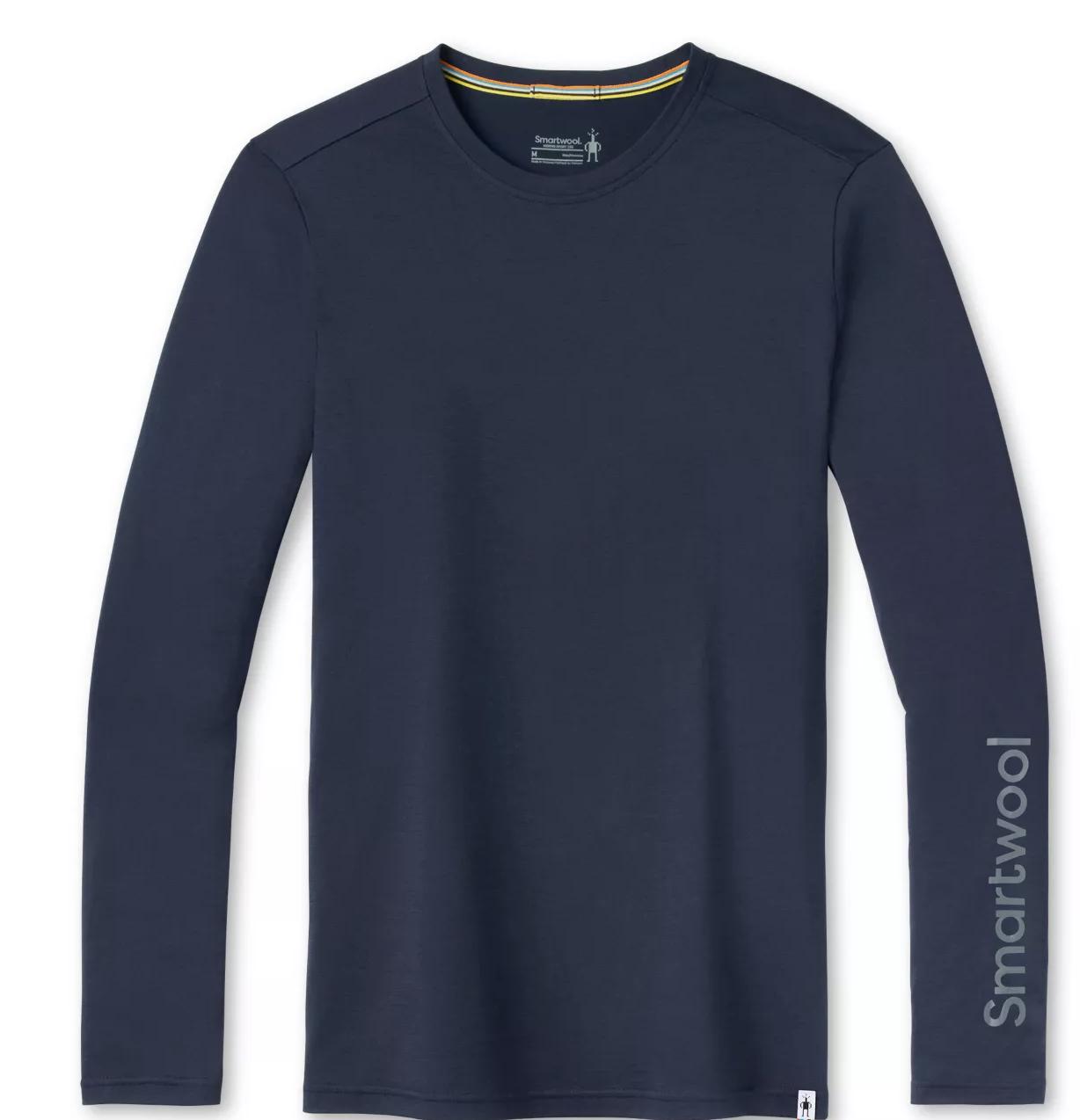 Smart Wool Men's Merino Sport 150 Logo Long Sleeve Graphic Tee