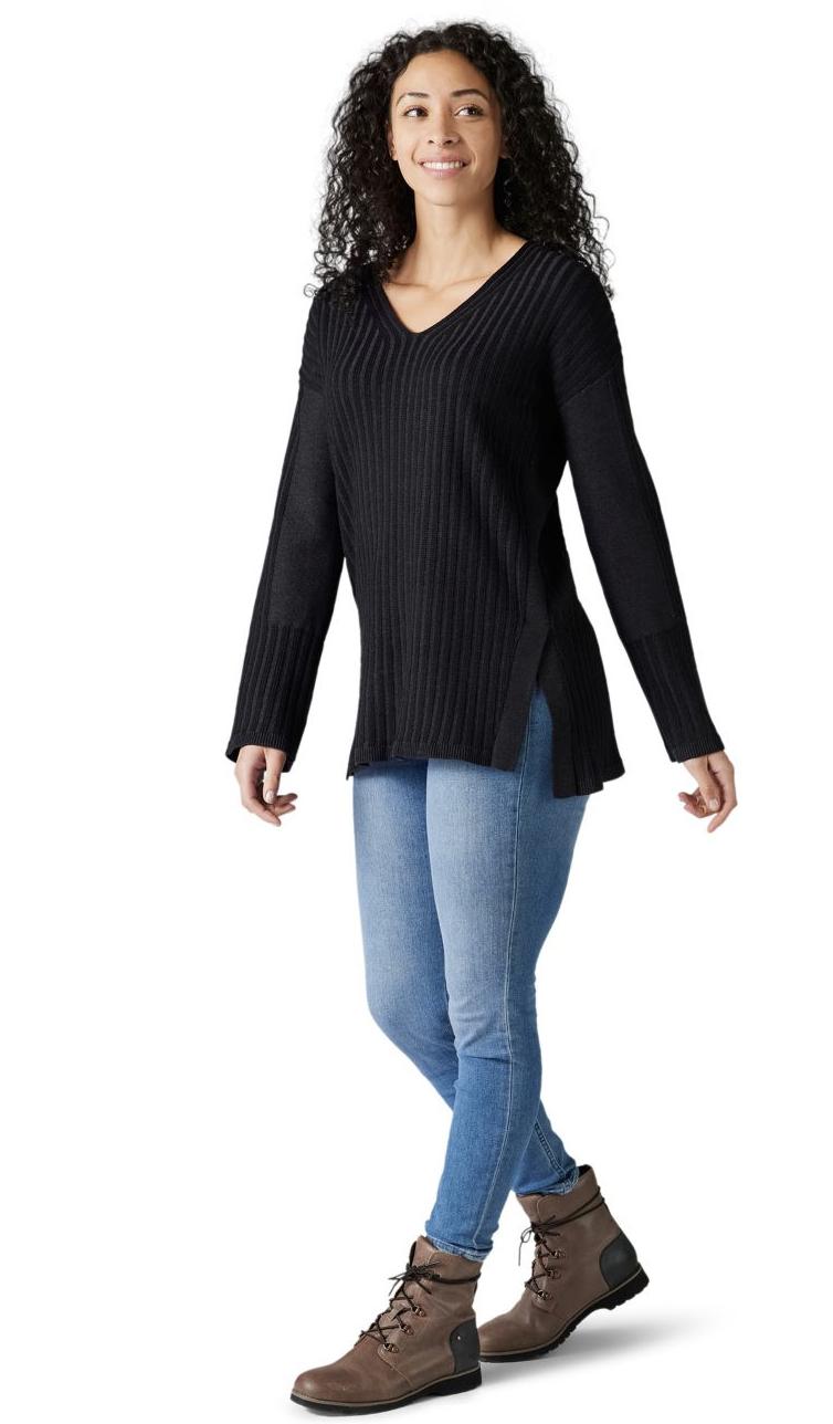 Smartwool Shadow Pine V-Neck Rib Sweater Women's