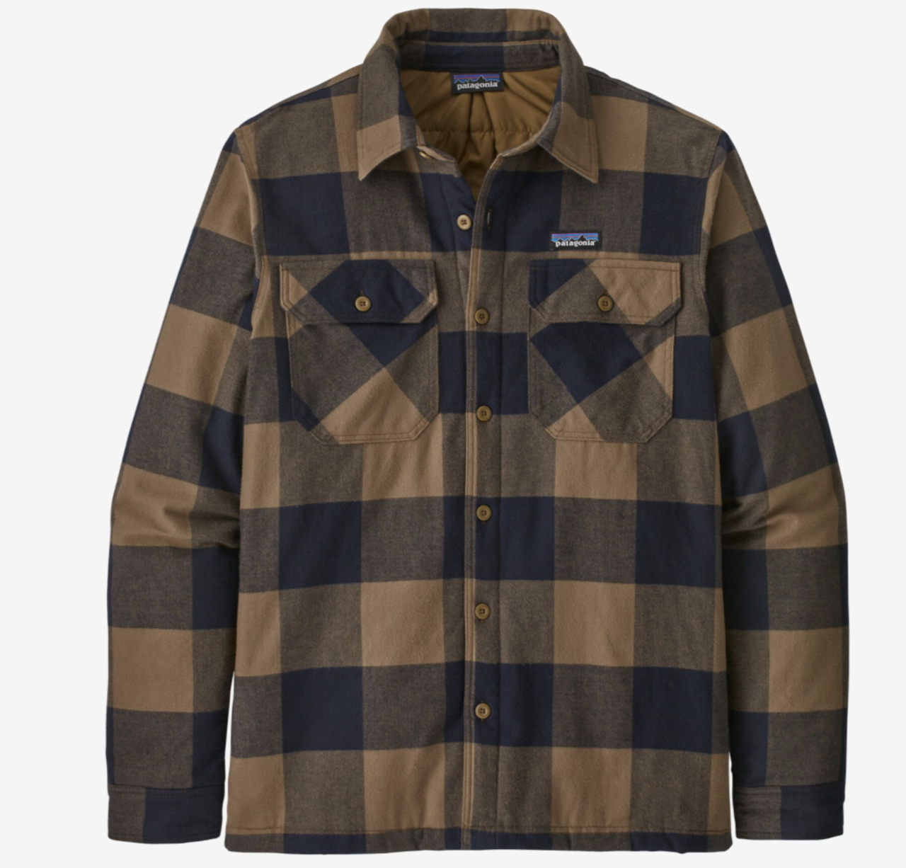 Patagonia Men's Insulated Organic Cotton Midweight Fjord Flannel Shirt
