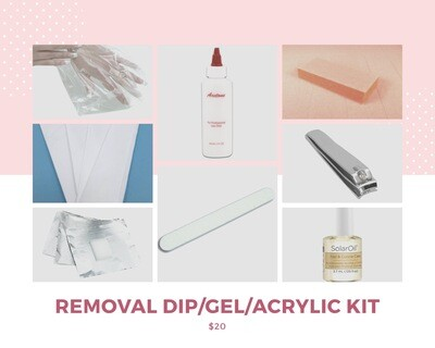 REMOVAL DIP NAILS, ACRYLIC NAILS, GEL NAILS KIT