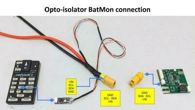 BatMon SMBUS Optoisolator board
