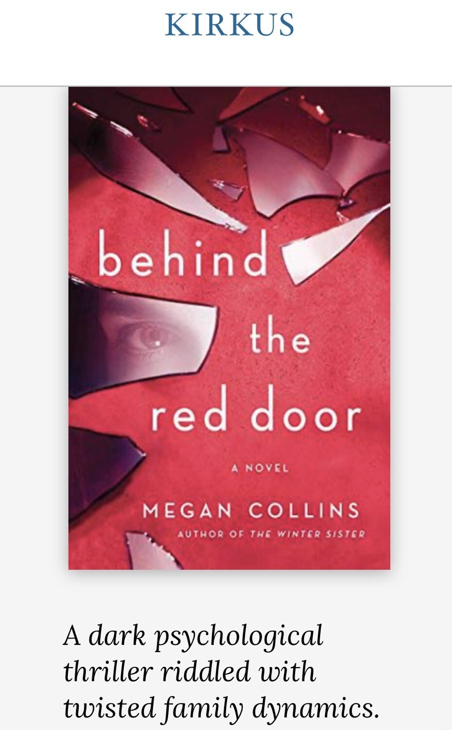 Behind the Red Door NEW - SIGNED Bookplate, Paperback