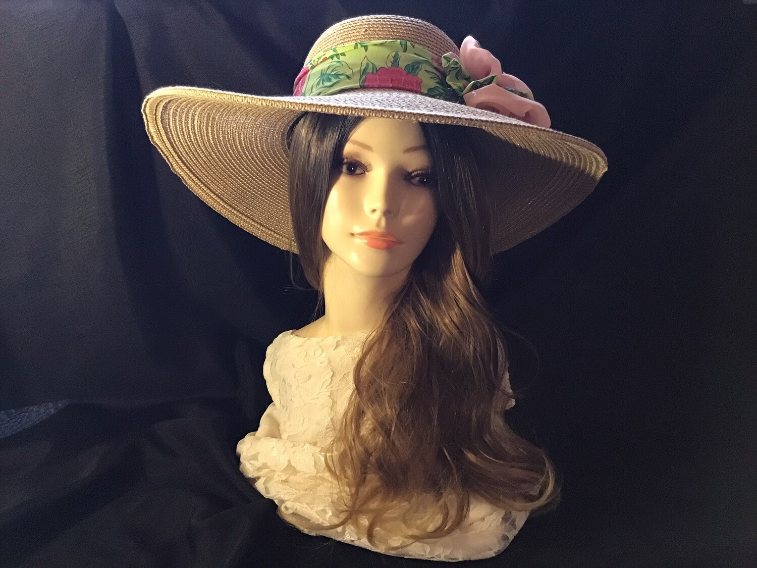 Summer Hat, Wide Brim Hat,Straw Hat, Church Hat, Tea Party Hat