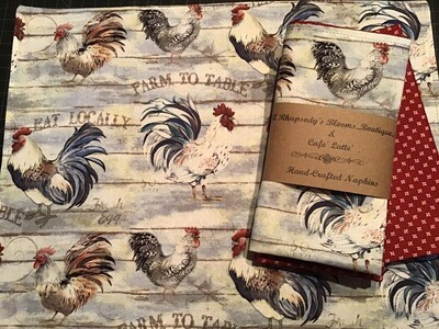 Rooster In The Henhouse Napkin