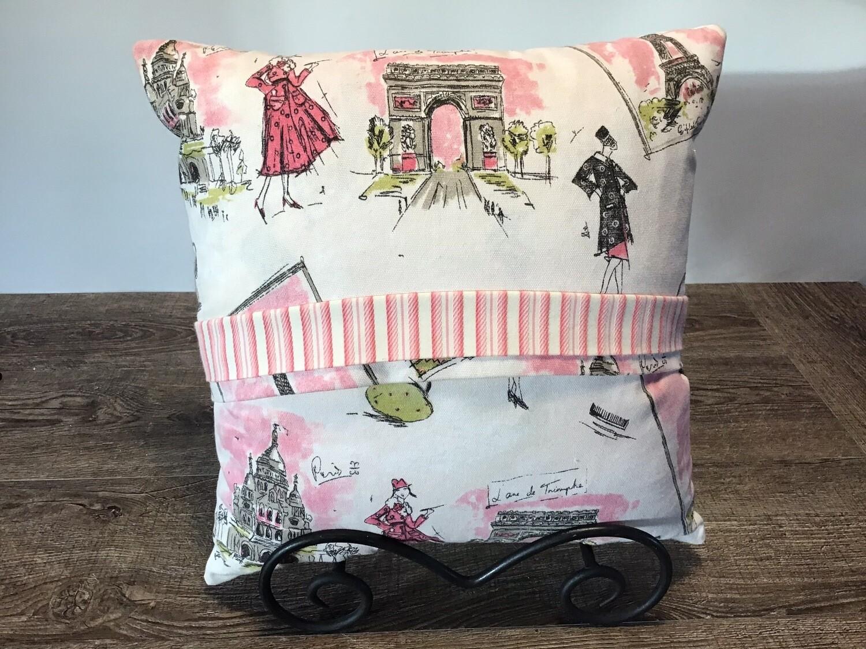 Home Decor Pillow Featuring Paris